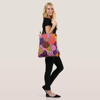 Tote Bag Cirles vibrants d'abrégé sur couleur
