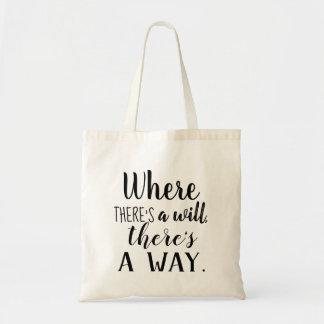Tote Bag Citation inspirée de motivation indiquant la
