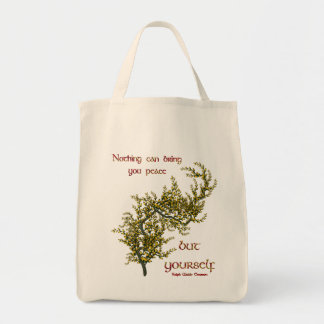 Tote Bag Citation inspirée de paix intérieure