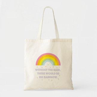Tote Bag Citation inspirée et de motivation d'arc-en-ciel