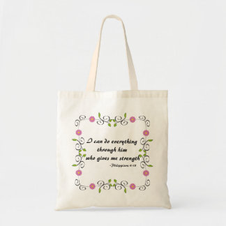 Tote Bag Citation religieuse d'encouragement