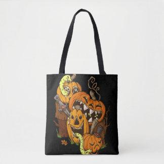 Tote Bag Citrouilles et serpents Fourre-tout de Halloween