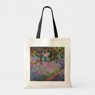Tote Bag Claude Monet - iris en beaux-arts du jardin de