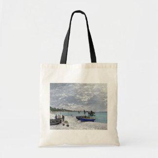 Tote Bag Claude Monet | la plage chez Sainte-Adresse