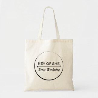 Tote Bag Clé de elle logo en laiton Fourre-tout