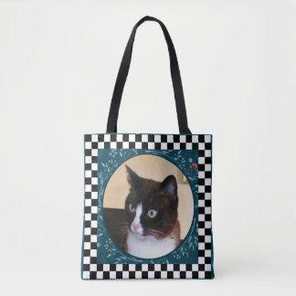 Tote Bag Coccinelles de observation de Kitty-Chat curieux