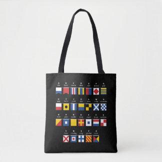 Tote Bag Code international d'alphabet de signaux