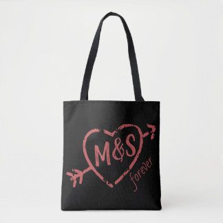 Tote Bag Coeur de monogramme d'amants