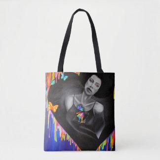 Tote Bag Coeur de Technicolor