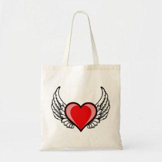 Tote Bag coeur de vol de l'amour