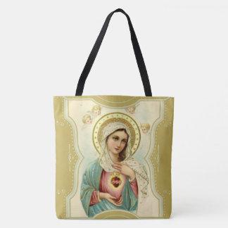 Tote Bag Coeur impeccable vintage de Mary w/cherubs
