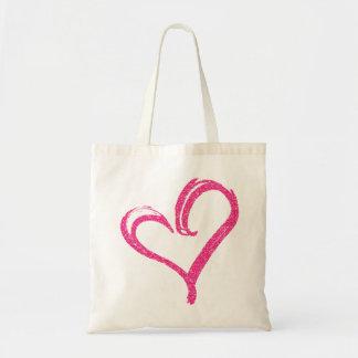 Tote Bag Coeur moderne Fourre-tout d'amour de mariage