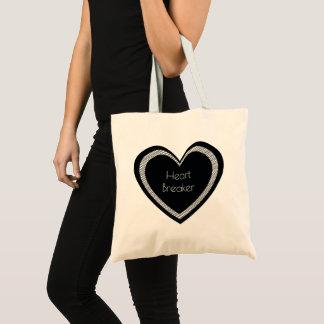 Tote Bag Coeur noir | Fourre-tout de base de bourreau des