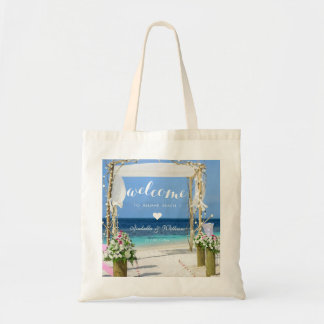 Tote Bag Coeur romantique d'accueil de porte de mariage de