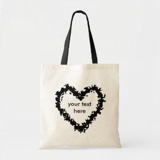 Tote Bag Coeur sauvage noir