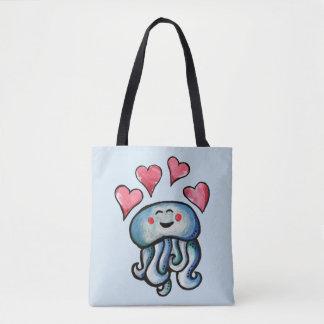Tote Bag Coeurs d'amour de méduses