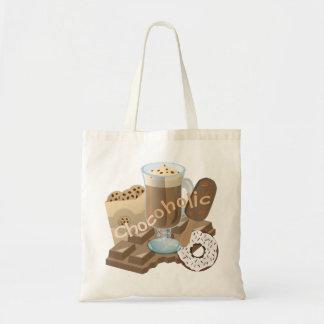 Tote Bag Collage de chocolat d'accro du chocolat