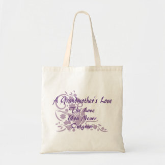 Tote Bag Colombe élégante de lavande d'amour de grand-mère
