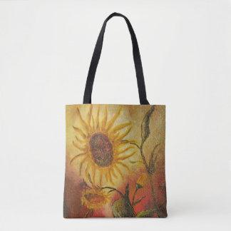 Tote Bag Composition colorée exotique en abrégé sur