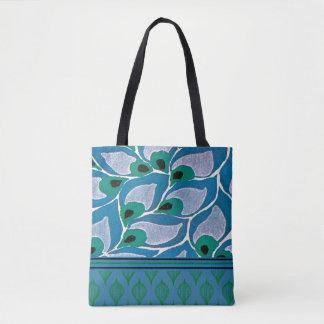 Tote Bag Conception bleue de Nouveau d'art de Hosta