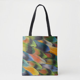Tote Bag Conception colorée de plume de perruche
