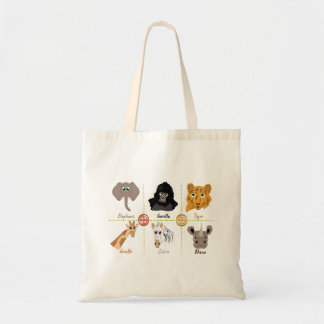 Tote Bag Conception d'animaux sauvages