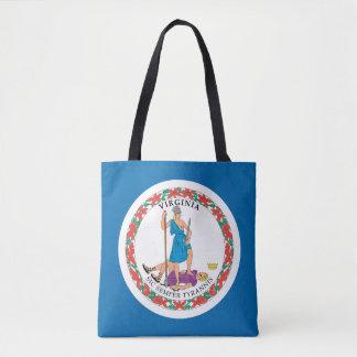 Tote Bag Conception de drapeau de la VIRGINIE -
