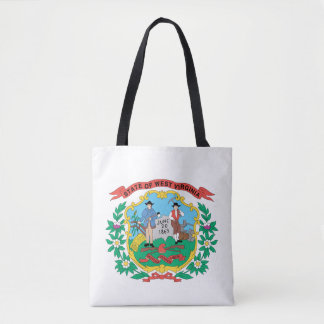 Tote Bag Conception de drapeau de la VIRGINIE OCCIDENTALE -