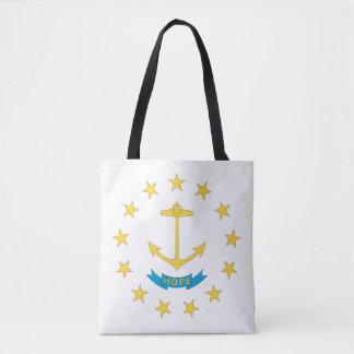 Tote Bag Conception de drapeau d'ÎLE DE RHODE -