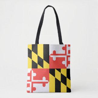 Tote Bag Conception de drapeau du MARYLAND -