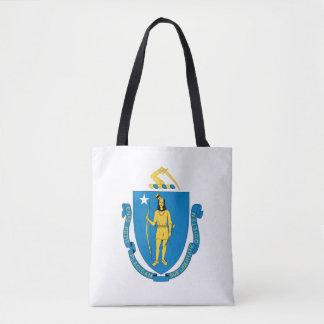 Tote Bag Conception de drapeau du MASSACHUSETTS -