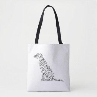 Tote Bag Conception de griffonnage de labrador retriever