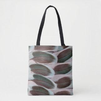 Tote Bag Conception de plume d'aile de perruche