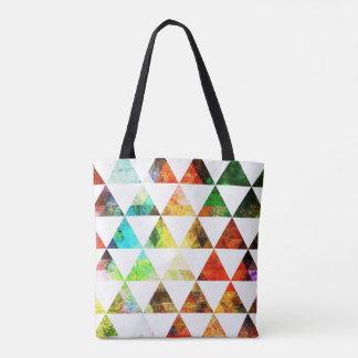 Tote Bag Conception de triangle peinte par graphique