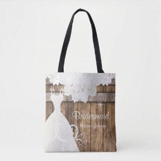 Tote Bag Conception nuptiale en bois de douche de grange