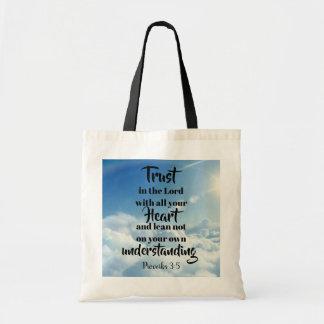 Tote Bag Confiance dans le seigneur fourre-tout