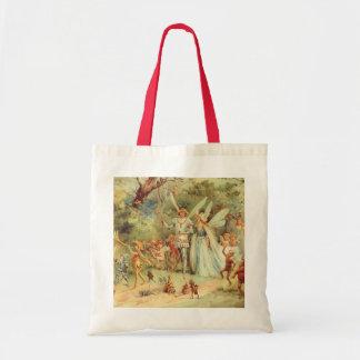 Tote Bag Contes de fées vintages, Thumbelina et prince