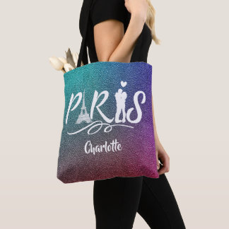 Tote Bag Cool superbe de Tour Eiffel de Paris d'amour