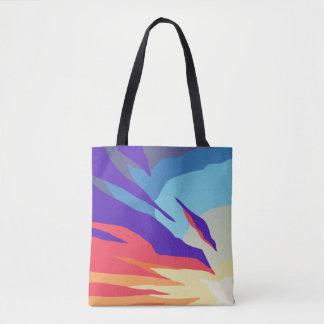 Tote Bag Copie abstraite Fourre-tout de coucher du soleil