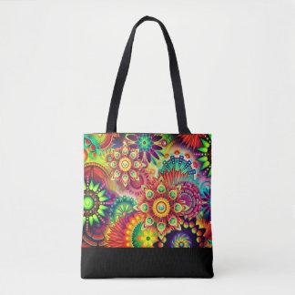 Tote Bag Copie colorée, audacieuse, abstraite fourre-tout