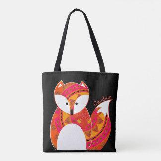 Tote Bag Copie colorée mignonne Fourre-tout de Fox partout