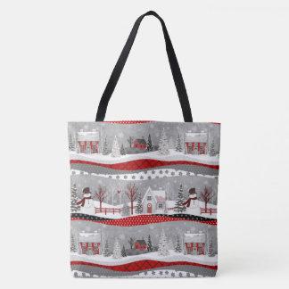 Tote Bag COPIE mignonne FOURRE-TOUT de patchwork de Noël