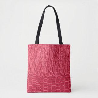 Tote Bag Copie rose Fourre-tout de crocodile