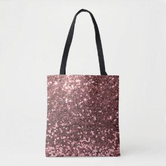 Tote Bag Copie rose moderne de rose de scintillement de