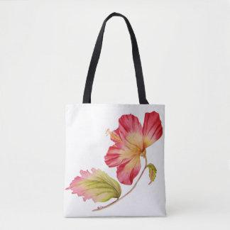Tote Bag Copie rose vintage Fourre-tout de fleur de ketmie