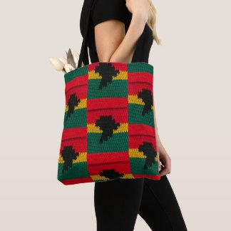 Tote Bag Copie rouge de crochet de vert d'or de noir de