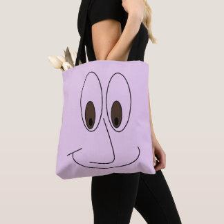 Tote Bag Copie souriante de visage de bande dessinée