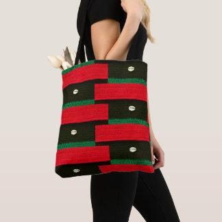 Tote Bag Copie verte noire rouge blanche de crochet de