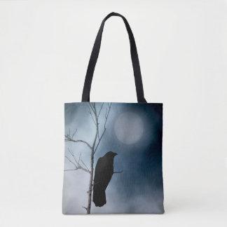 Tote Bag Corneille et la lune mûre
