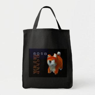 Tote Bag Coton 2018 d'année de chien d'art numérique du